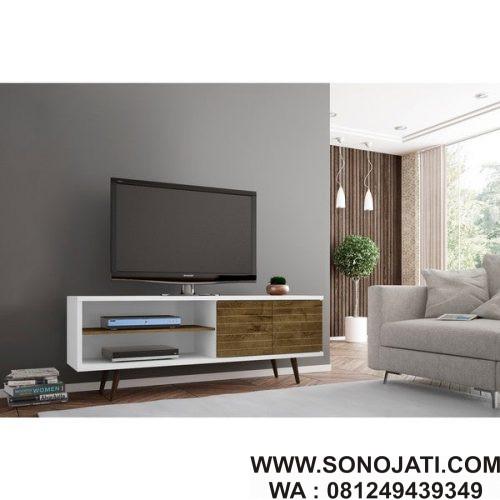 Top Desain Ruang Tamu Di Teras Rumah  bufet tv minimalis ruang keluarga bt 05