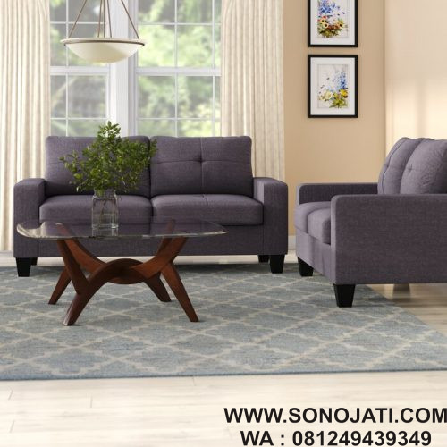 Set Sofa L 2 Piece Minimalis Modern