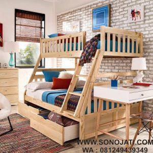 Tempat Tidur Tingkat Anak Twin Over Full