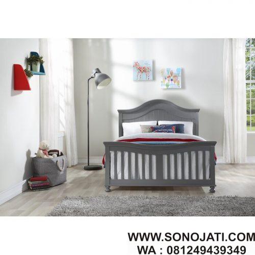 Tempat Tidur Minimalis Modern Grey
