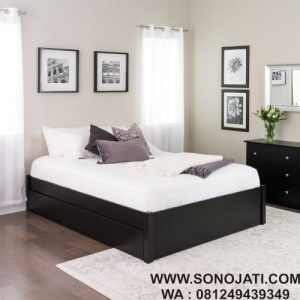 Tempat Tidur Minimalis Penyimpanan Sagamore