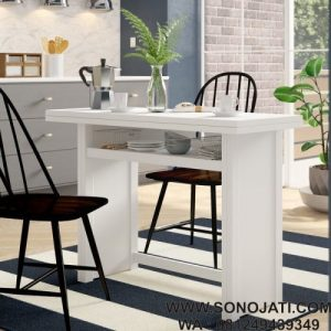 Meja Bar Cafe Minimalis Washam Dining Table