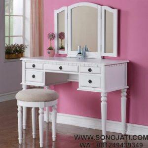 Set Meja Rias Vanity dengan Kaca