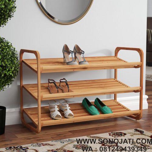 Tempat Sepatu Melengkung 3 Tingkat