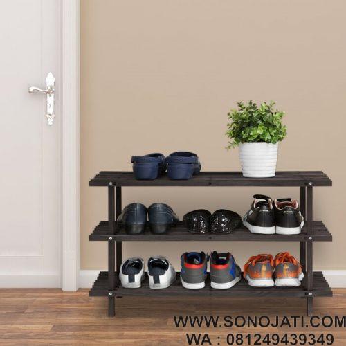 Rak Sepatu Susun 3 Tingkat 9 Pair