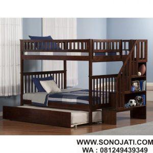 Tempat Tidur Tingkat Shyan Full 3 Bed