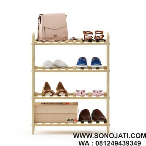 Rak Sepatu Minimalis 8 Pair