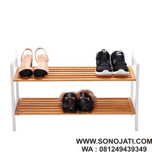 Rak Sepatu Minimalis 2 Tingkat Coral