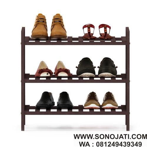 Rak Sepatu Minimalis 6 Pasang Shoes