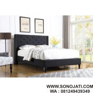 Tempat Tidur Kayu Jati Minimalis Boxwell