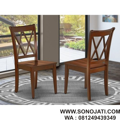 Kursi Cafe Minimalis Murah Farris Sono Jati Furniture