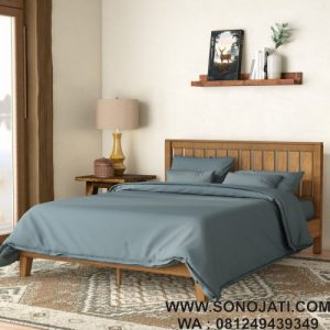 Tempat Tidur Kayu Minimalis Morgan Hill
