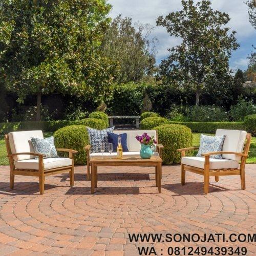 Set Model Kursi Teras Minimalis Sofa Juno