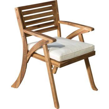 Kursi Teras Minimalis Coyne Patio dengan Bantal (Set 2)