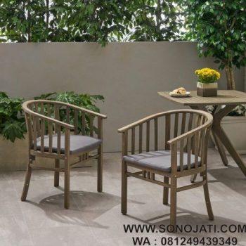 Kursi Teras Minimalis Lengkung Thacker Outdoor (Set 2)