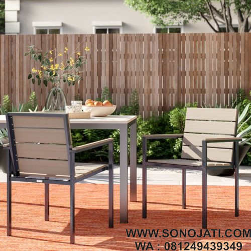 Kursi Teras Minimalis Shawn Stacking Patio (Set 2)