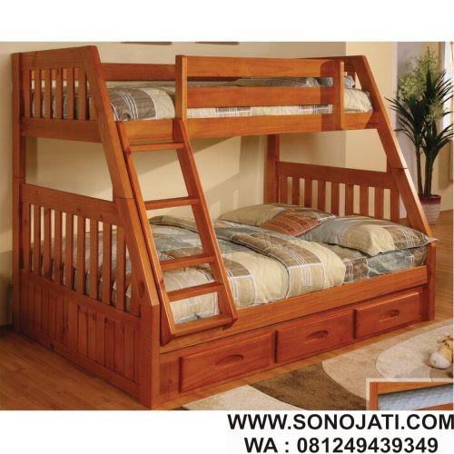 Tempat Tidur Tingkat Minimalis Orval Twin Over Full