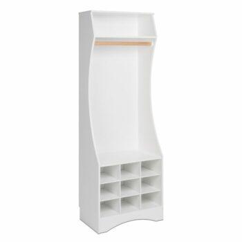 Almari Pakaian Putih Norberg Compact
