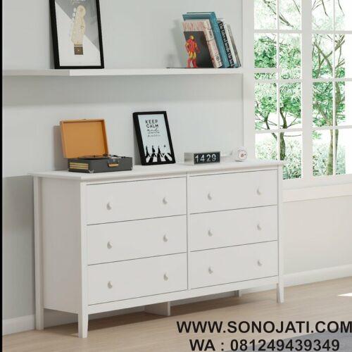 Lemari Baju Bayi Putih Ryley Simplicity