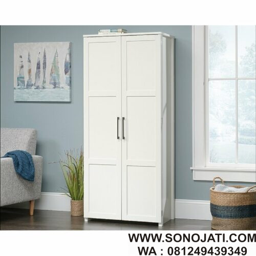 Lemari Dapur Kayu Putih Lenore Storage