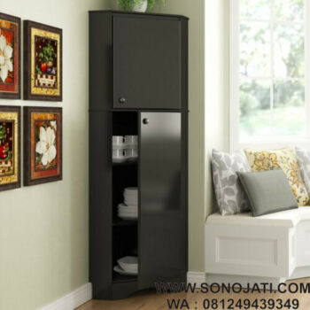 Lemari Dapur Minimalis Natural Door Corner Storage