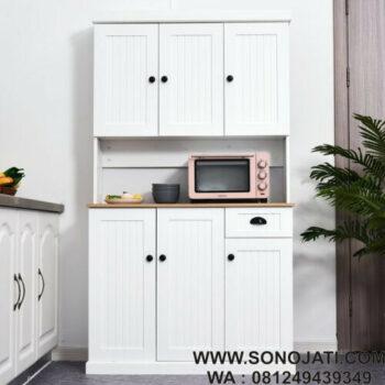 Lemari Dapur Modern Putih Robicheaux