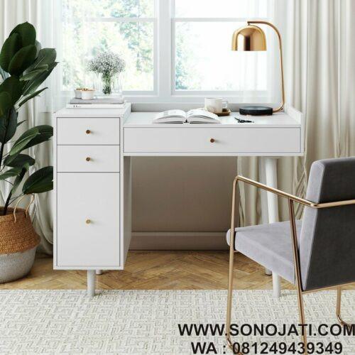 Meja Belajar Minimalis Modern Bost Desk Sono Jati Furniture