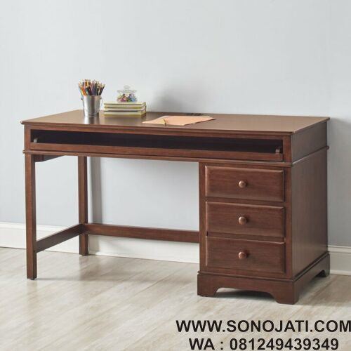 Meja Belajar Natural Rochdale Writing Desk