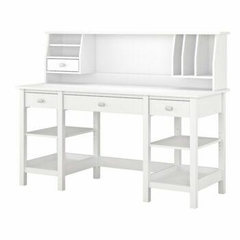Meja Kantor Putih Mewah Perreira Desk