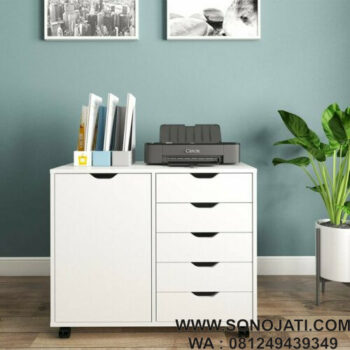 Meja Printer Minimalis Modern Wilsteand Mobile Printer