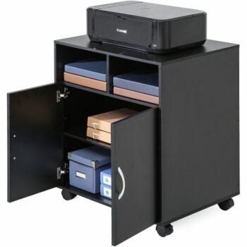 Meja Printer Minimalis Stand Printer Mobile