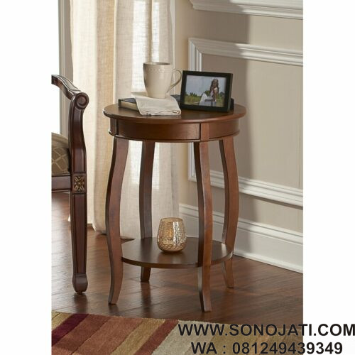 Nakas Antik Natural Callan End Table