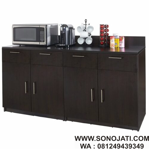 Rak Dapur Minimalis Natural Coffee Kitchen