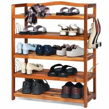 Rak Sepatu Kayu Minimalis Freestanding Heavy