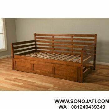 Day Bed Minimalis Jati Franco Twin Solid Wood