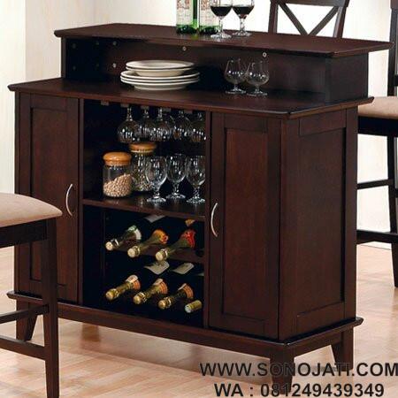 Lemari Minibar Minimalis Zavier Wine Bar