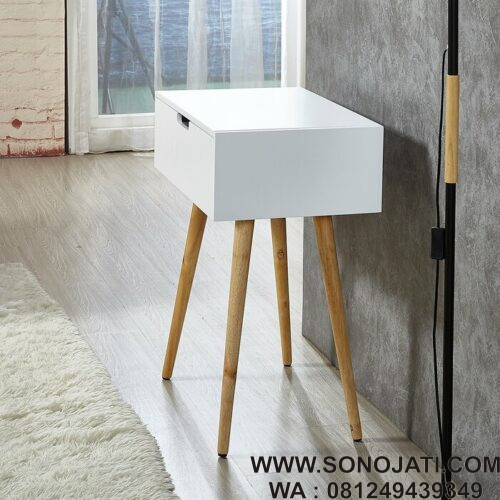 Meja Rias Minimalis White Vanity Table