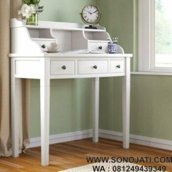 Meja Kerja Kayu Putih Sadie