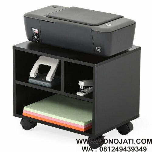 Meja Printer Kecil Dengan Roda Dark